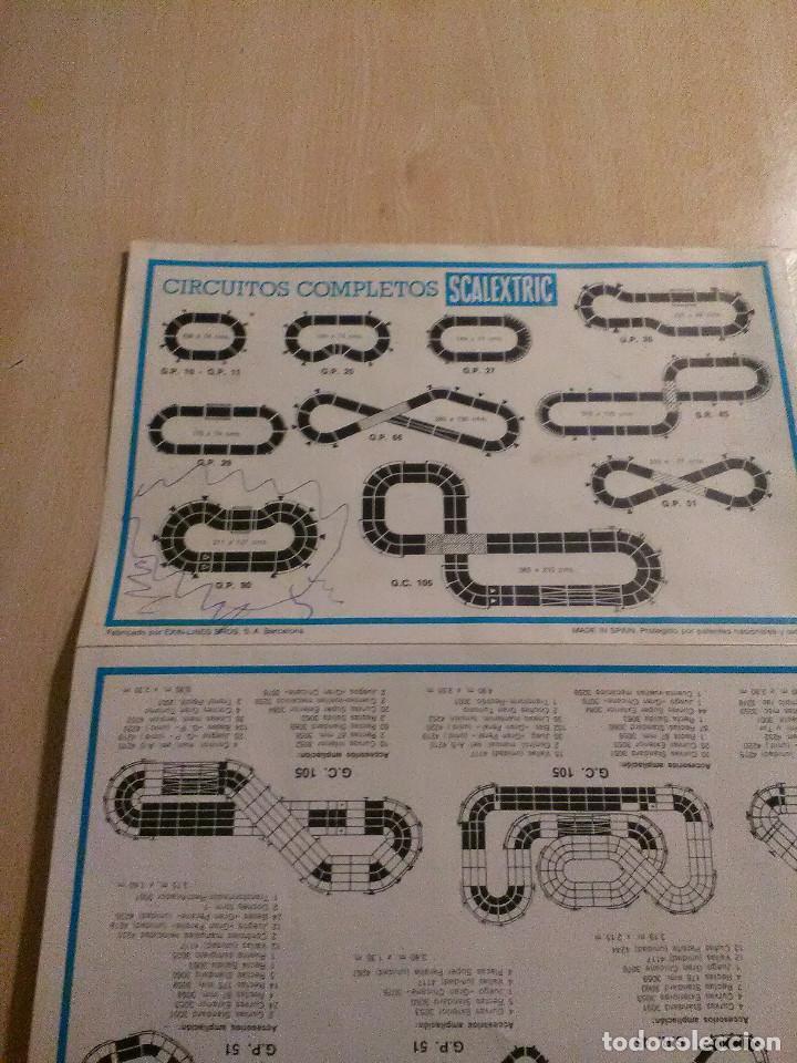 Juguetes antiguos: Scalextric Catalogo de tramos de pista,accesorios,recambios y trazados de circuito - Foto 4 - 106786283