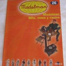 Juguetes antiguos: CATÁLOGO / FASCÍCULO MADELMAN ALTAYA Nº 26, SILLA, MESA Y COCINA.. Lote 109502182