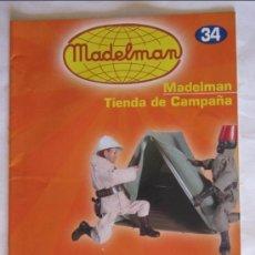 Juguetes antiguos: CATÁLOGO / FASCÍCULO MADELMAN ALTAYA Nº 34, TIENDA DE CAMPAÑA.. Lote 109503218