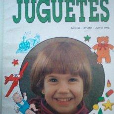 Juguetes antiguos: ANTIGUA REVISTA JUGUETES Nº 240 JUNIO 1992 ORGANO DE LA CAMARA ARGENTINA DE LA INDUSTRIA DEL JUGUETE. Lote 111606367