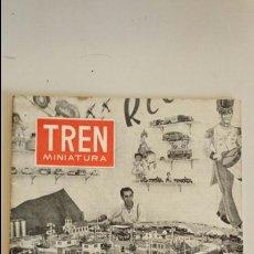 Juguetes antiguos: REVISTA TREN MINIATURA ENERO 1958 SOBRE TRENES ELECTRICOS PAYA ELECTROTREN MARKLIN. Lote 111865519
