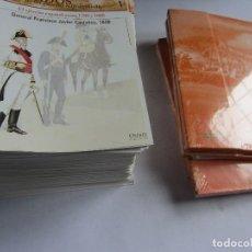 Juguetes antiguos: SOLDADOS DE LAS GUERRAS NAPOLEONICAS,FASCÍCULOS DEL Nº 1 AL 100 (SOLO FALTA 38)+ TAPAS ED. DEL PRADO. Lote 111875335