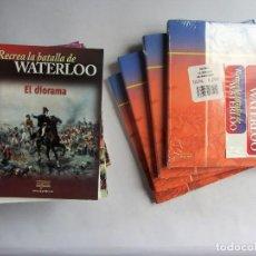 Juguetes antiguos: RECREA LA BATALLA DE WATERLOO FASCÍCULOS DEL 1 AL 79, DEL 81 AL 100 +109, 110 +TAPAS ED. DEL PRADO. Lote 111876323