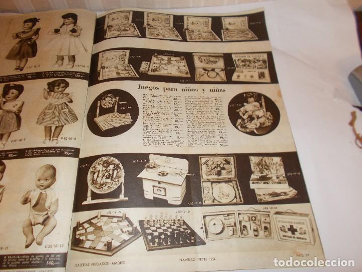 Juguetes antiguos: Revista catalogo de juguetes de Galerias Preciados año 1954-1955 con muchas muñecasy juguetes,Perfec - Foto 4 - 113003711