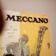 Juguetes antiguos: CATÁLOGO MECCANO AÑOS 50 EN INGLÉS. Lote 113490732