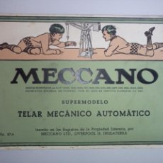 Juguetes antiguos: CATÁLOGO MANUAL DE INSTRUCCIONES MECCANO TELAR MECÁNICO AUTOMÁTICO NO. 47.6. Lote 113648158