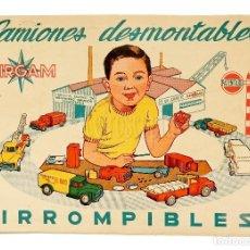 Juguetes antiguos: CATÁLOGO DE CAMIONES DESMONTABLES IRROMPIBLES AIRGAM JUGUETES. AÑOS 50. Lote 114127863