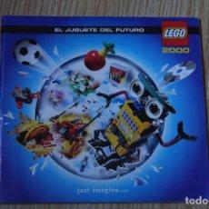 Juguetes antiguos: CATÁLOGO LEGO 2000 EL JUGUETE DEL FUTURO PUBLICIDAD AÑO 2.000 JUST IMAGINE REVISTA. Lote 115233999