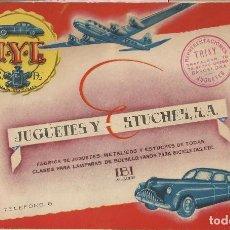 Juguetes antiguos: CATALOGO ORIGINAL J.Y.E JUGUETES Y ESTUCHES S.A. AÑOS 40 Y LISTA PRECIOS. Lote 115490071