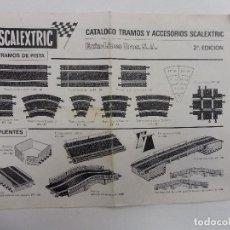 Juguetes antiguos: SCALEXTRIC CATÁLOGO TRAMOS Y ACCESORIOS 2ª EDICIÓN AÑO 68 CASTELLANO. Lote 117045467