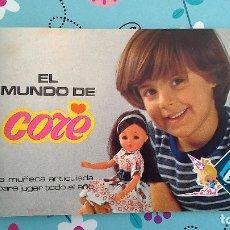Juguetes antiguos: CATÁLOGO DE LA MUÑECA CORE DE LA MARCA BB (AÑOS 70). Lote 117554883