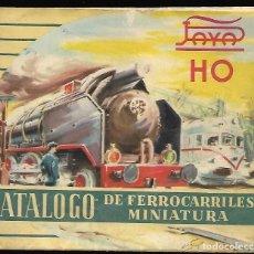 Juguetes antiguos: CATALOGO DE FERROCARRILES MINIATURA PAYA HO, DESPLEGABLE.. Lote 118273859