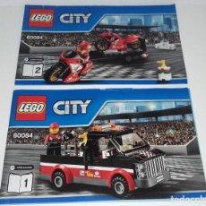Juguetes antiguos: LEGO CITY 60084 LOTE CATALOGO INSTRUCCIONES MONTAJE. Lote 118542699