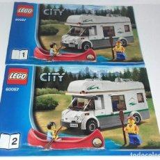 Juguetes antiguos: LEGO CITY 60057 LOTE CATALOGO INSTRUCCIONES MONTAJE CARAVANA. Lote 118542851