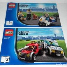 Juguetes antiguos: LEGO CITY 60047 LOTE CATALOGO INSTRUCCIONES MONTAJE POLICIA. Lote 118543527