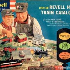 Juguetes antiguos: CATÁLOGO REVELL 1959-60 HO TRAIN CATALOG USA - EN INGLÉS. Lote 119000831
