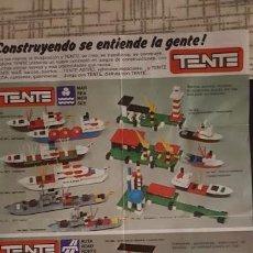 Juguetes antiguos: CATALOGO TENTE CONSTRUCCIONES AÑOS 70 - 80. Lote 120352559