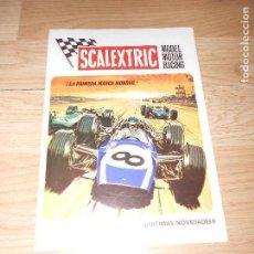 Juguetes antiguos: SCALEXTRIC MODEL MOTOR RACING - FOLLETO / CATALOGO. Lote 128564476