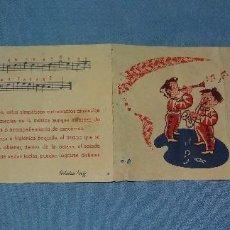 Juguetes antiguos: ANTIGUO CUADERNO MUSICAL PARA CLARINETE Y SAXOFON ESTUDIOS REIG ORIGINAL. Lote 122860007