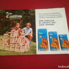 Juguetes antiguos: PUBLICIDAD EXIN CASTILLOS Y EXIN ASTRO - AÑO 1969 - MEDIDAS; 21,5 X 15 CMS.. Lote 124222443