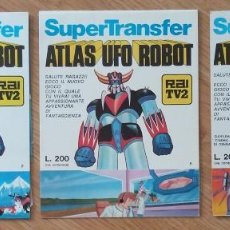 Juguetes antiguos: 3 CUADERNOS DE MAZINGER Z ITALIANO, ATLAS UFO ROBOT, RAI TV2, CON CUADERNILLO DE CALCAMONIAS, TAL Y . Lote 124428987