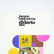 Giocattoli antichi: CATÁLOGO DE JUGUETES - JUEGOS EDUCATIVOS DIDACTA 1968. Lote 124517480