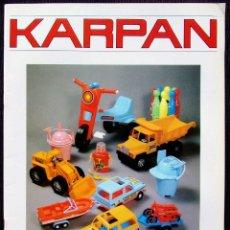 Juguetes antiguos: CATÁLOGO JUGUETES KARPAN. ZARAGOZA. AÑO: 1986. CON NOTA DE PEDIDO DE LA JUGUETERÍA CHAPERO. BURGOS.. Lote 125270451