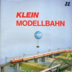 Juguetes antiguos: CATÁLOGO KLEIN MODELLBAHN 1988 STANDARDPROGRAMM SCHIENENPLÄNE - EN ALEMÁN. Lote 127570291