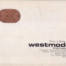 Juguetes antiguos: CATÁLOGO WESTMODEL KLEINSERIEN 1984 HO 1/87 PINON & BACHMANN - EN ALEMÁN. Lote 128063119
