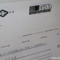 Juguetes antiguos: LISTA DE PRECIOS DE: JUGUETES 33 GRUPO BROTONS.- 1986. . Lote 128654767