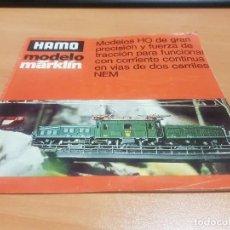 Juguetes antiguos: CATALOGO HAMO MODELO MARKLÍN (ESPAÑOL) DE 1976. Lote 129958603