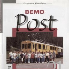 Brinquedos antigos: CATÁLOGO BEMO 2001 HERBSTNEUHEITEN - BEMO POST N. 21 - EN ALEMÁN. Lote 130492774