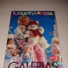 Juguetes antiguos: CATÁLOGO DE JUGUETES GALERÍAS PRECIADOS - JUGUETYLANDIA AÑO 1988. Lote 130908313