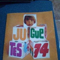 Juguetes antiguos: CATALOGO JUGUETES EL CORTE INGLES 1974 NANCY MADELMAN IBERTREN ETC,. Lote 131099313