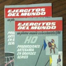 Juguetes antiguos: CATÁLOGO FIGURAS MINIATURAS ALYMER - 1/86 - HO - SOLDADOS MILITARES PLOMO 1963. Lote 131411858