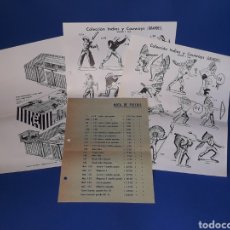 Juguetes antiguos: 3 HOJAS CATÁLOGO + NOTA DE PRECIOS, INDIOS / COWBOYS / FUERTE, PH PECH HERMANOS, ORIGINAL AÑOS 60.. Lote 131959982
