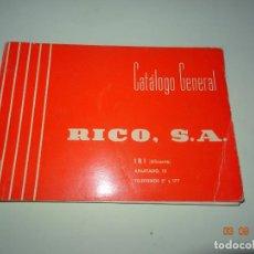 Juguetes antiguos: ANTIGUO CATÁLOGO GENERAL DE JUGUETES RICO - AÑO 1960S.. Lote 132574330