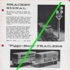Juguetes antiguos: CATÁLOGO MAX GRAY SUPPLEMENT SHEET NO 24 NOV 1960 PIGGY-BACK TRAILERS - EN INGLÈS. Lote 133303290