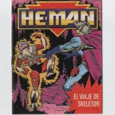 Juguetes antiguos: (ALB-TC-30) MINI COMIC Y CATALOGO HE MAN MASTERS DEL UNIVERSO EL VIAJE DE SKELETOR. Lote 183048428
