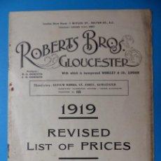 Juguetes antiguos: ANTIGUO CATALOGO JUGUETES ROBERTS BROS GLOUCESTER - LONDRES, REINO UNIDO - AÑO 1919. Lote 134306258