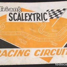 Juguetes antiguos: CATALOGO DE CIRCUITOS SCALEXTRIC TRI-ANG EXIN 1966 RACING CIRCUITS. Lote 134542058