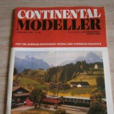 Juguetes antiguos: CONTINENTAL MODELLER, ENERO 1993, REVISTA DE MODELISMO FERROVIARIO.. Lote 136254006