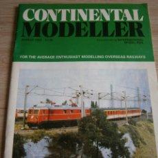 Juguetes antiguos: CONTINENTAL MODELLER, MARZO 1993, REVISTA DE MODELISMO FERROVIARIO.. Lote 136256082