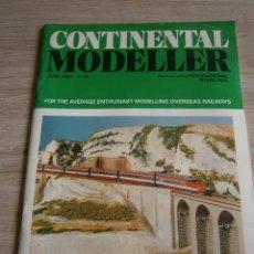 Juguetes antiguos: CONTINENTAL MODELLER, JUNIO 1993, REVISTA DE MODELISMO FERROVIARIO.. Lote 136257402