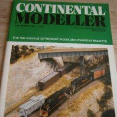 Juguetes antiguos: CONTINENTAL MODELLER, SEPTIEMBRE 1993, REVISTA DE MODELISMO FERROVIARIO.. Lote 136262770