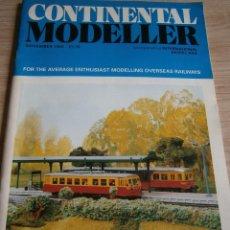 Juguetes antiguos: CONTINENTAL MODELLER, NOVIEMBRE 1993, REVISTA MODELISMO FERROVIARIO.. Lote 136263282