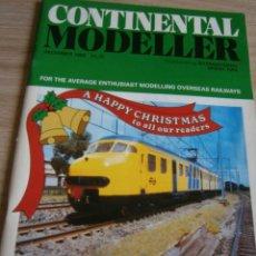 Juguetes antiguos: CONTINENTAL MODELLER, DICIEMBRE 1993, REVISTA MODELISMO FERROVIARIO.. Lote 136263550