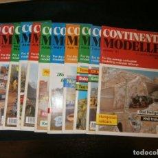Juguetes antiguos: 12 REVISTAS CONTINENTAL MODELLER, AÑO 1991 COMPLETO, TREN REAL Y MODELISMO. Lote 137186226