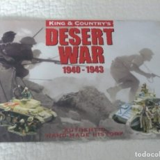 Juguetes antiguos: CATALOGO KING & COUNTRY DESERT WAR 1940-1943. Lote 137758962