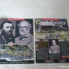 Juguetes antiguos: CATALOGOS KING & COUNTRY AMERICAN CIVIL WAR Y CONFEDERATES. Lote 137762430
